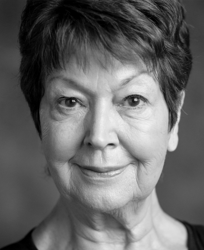 A Black and White Headshot of Ruth Madoc